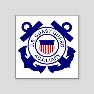"""USCGAux-Logo-Bonnie.gif Square Sticker 3"""" x 3"""""""