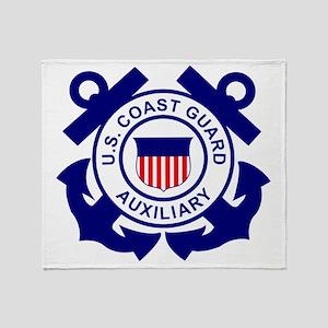 USCGAux-Logo-Bonnie Throw Blanket