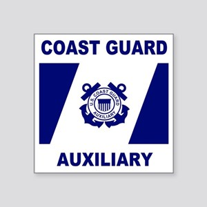 "USCGAux-Flag-Shirt-1 Square Sticker 3"" x 3"""