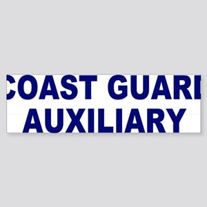 USCGAux-Text-Blue Sticker (Bumper)