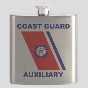 USCGAux-Racing-Stripe-Shirt Flask