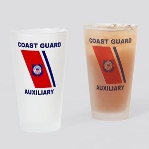 USCGAux-Racing-Stripe-Shirt Drinking Glass