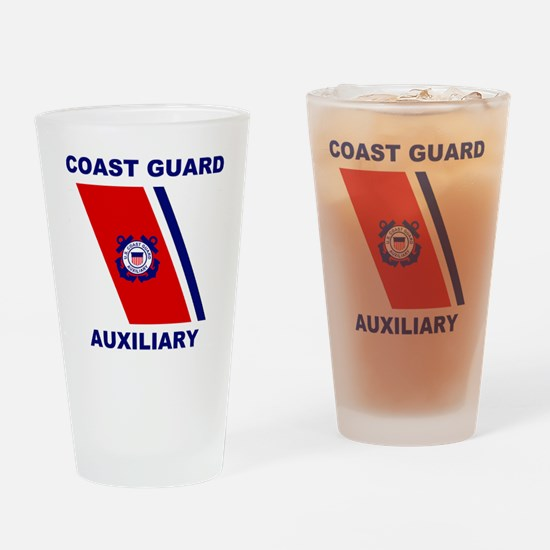 USCGAux-Racing-Stripe-Shirt.gif Drinking Glass