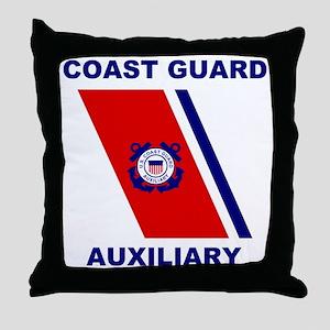USCGAux-Racing-Stripe-Shirt Throw Pillow