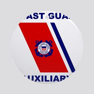 USCGAux-Racing-Stripe-Shirt Round Ornament