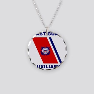USCGAux-Racing-Stripe-Shirt. Necklace Circle Charm