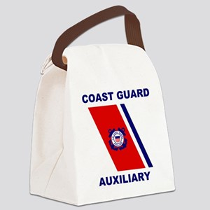 USCGAux-Racing-Stripe-Shirt Canvas Lunch Bag