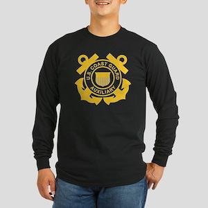 USCGAux-Black-Shirt Long Sleeve Dark T-Shirt