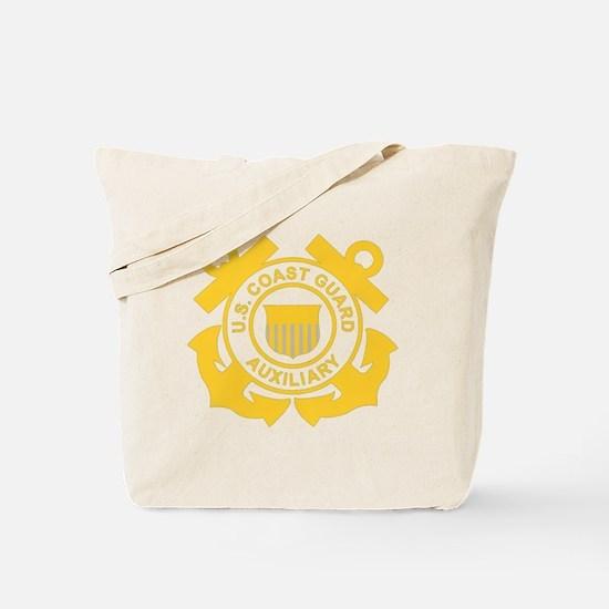 USCGAux-Black-Shirt Tote Bag