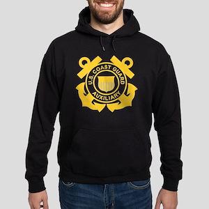 USCGAux-Black-Shirt Hoodie (dark)