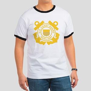 USCGAux-Black-Shirt Ringer T
