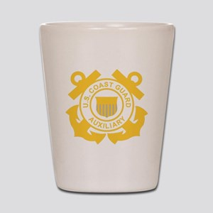 USCGAux-Black-Shirt Shot Glass