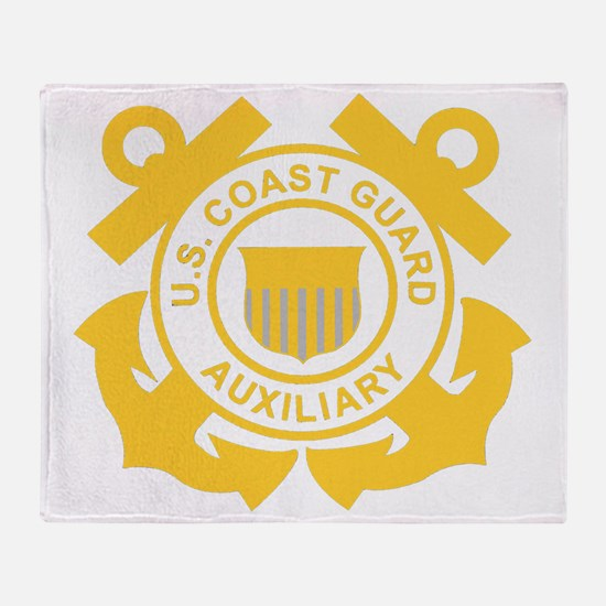 USCGAux-Black-Shirt Throw Blanket