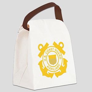 USCGAux-Black-Shirt Canvas Lunch Bag