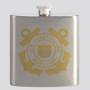 USCGAux-Black-Shirt Flask