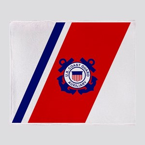 USCGAux-Racing-Stripe-Inverted Throw Blanket