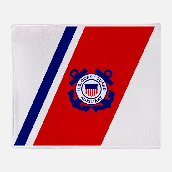 USCGAux-Racing-Stripe-Inverted.gif Throw Blanket
