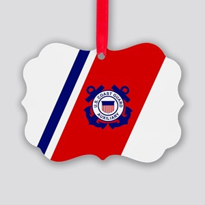 USCGAux-Racing-Stripe-Inverted.gi Picture Ornament