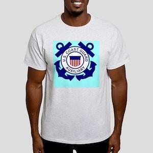USCGAux-Button Light T-Shirt