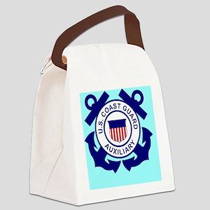 USCGAux-Button Canvas Lunch Bag