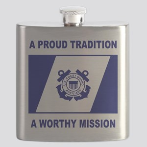 USCGAux-Pride-Shirt Flask