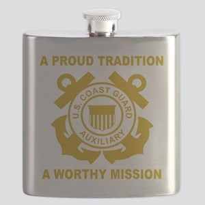 USCGAux-Black-Shirt-3 Flask