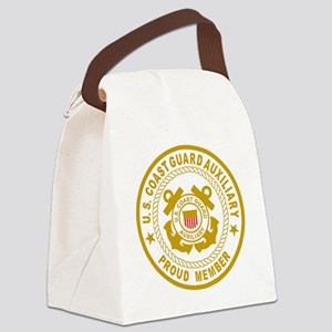 USCGAux-Black-Shirt-2 Canvas Lunch Bag
