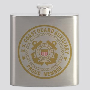 USCGAux-Black-Shirt-2 Flask