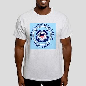 USCGAux-Pride-Button-X Light T-Shirt