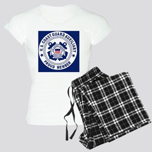 USCGAux-Pride-Button Women's Light Pajamas
