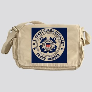 USCGAux-Pride-Button Messenger Bag