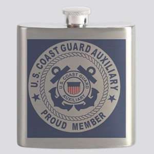 USCGAux-Pride-Button Flask