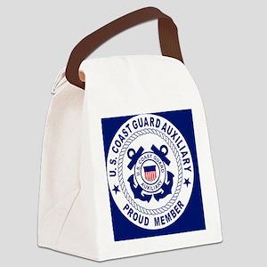 USCGAux-Pride-Button Canvas Lunch Bag