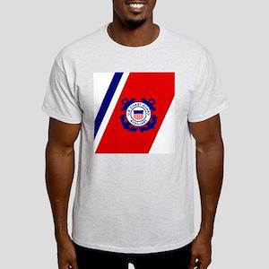 USCGAux-Racing-Stripe-Tile Light T-Shirt