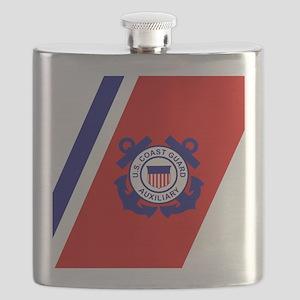 USCGAux-Racing-Stripe-Tile Flask