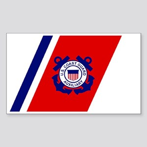 USCGAux-Racing-Stripe-Black-Ca Sticker (Rectangle)