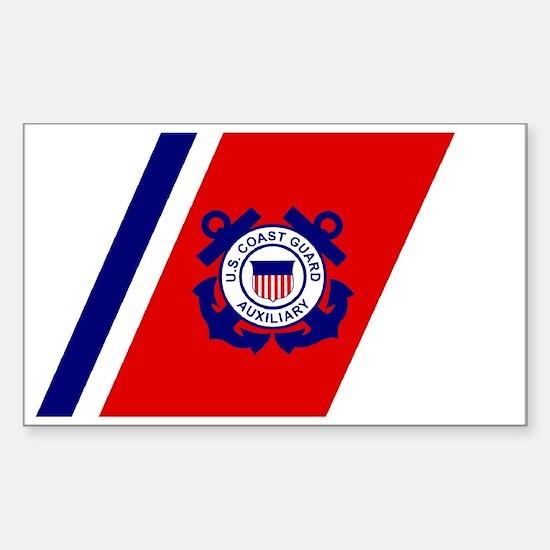 USCGAux-Racing-Stripe-Black-Ca Sticker (Rectangle)