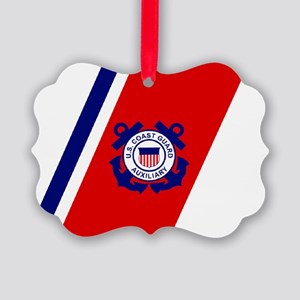 USCGAux-Racing-Stripe-Sticker-2.g Picture Ornament