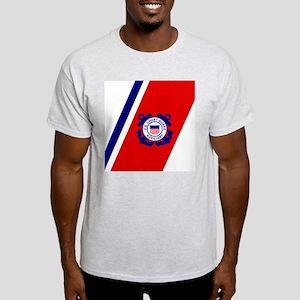 USCGAux-Racing-Stripe-Mousepad Light T-Shirt