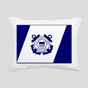 USCGAux-Flag-Enclosed.gi Rectangular Canvas Pillow