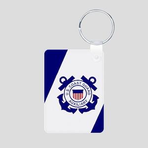 USCGAux-Flag-Journal Aluminum Photo Keychain
