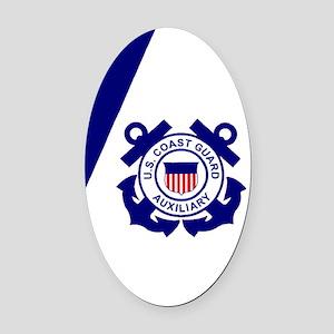 USCGAux-Flag-Journal Oval Car Magnet