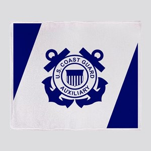 USCGAux-Flag-Mousepad Throw Blanket