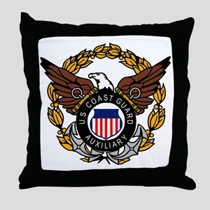 USCGAux-Eagle-Colored Throw Pillow