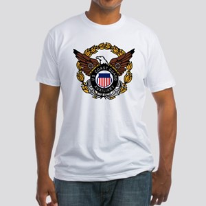USCGAux-Eagle-Colored Fitted T-Shirt