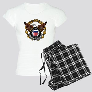 USCGAux-Eagle-Colored Women's Light Pajamas