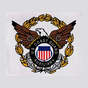 USCGAux-Eagle-Colored Throw Blanket