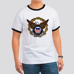 USCGAux-Eagle-Colored Ringer T
