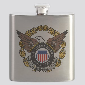 USCGAux-Eagle-Colored Flask