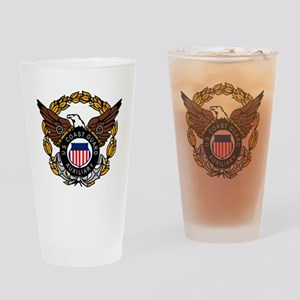 USCGAux-Eagle-Colored Drinking Glass
